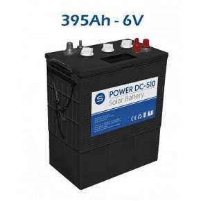 Batería solar ciclo profundo Power DC 395ah 6v