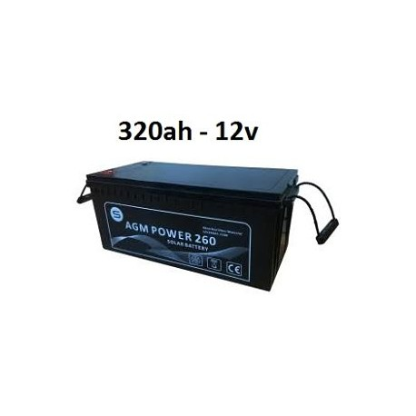 Batería agm 320ah 12v power