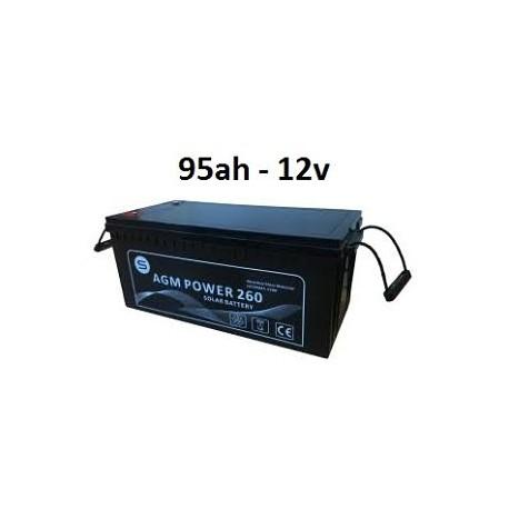 Batería agm 95ah 12v power