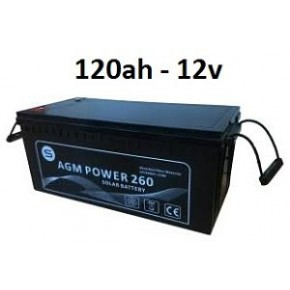 Batería agm 120ah 12v power