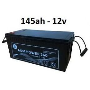Batería Agm 145ah 12v Power