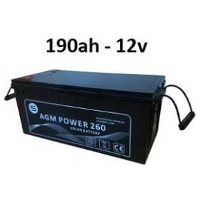 Batería Agm 190ah 12v Power