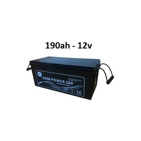 Batería 190ah 12v agm power