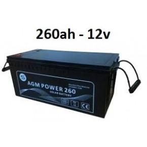 Batería agm 260ah 12v power
