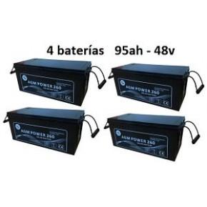 Batería Agm 48v 95ah Power