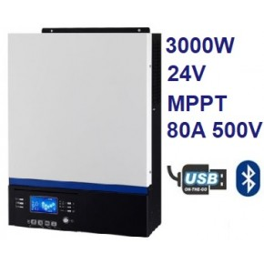 Inversor Cargador AXPERT VM III 3000W 24V MPPT 80A 500V