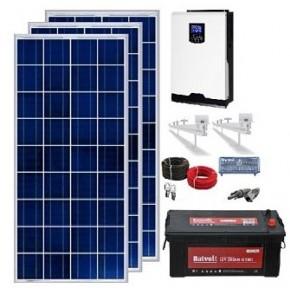 Kit Solar 1000W 12V 2.4000Whdía Batería 250Ah