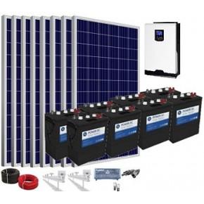 Kit solar 5000w 48v 13200wh/día batería 510Ah