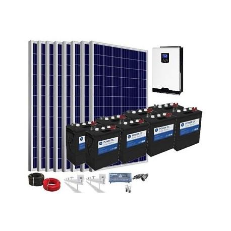 Kit solar 48v 7800/18200w/día batería 12240w