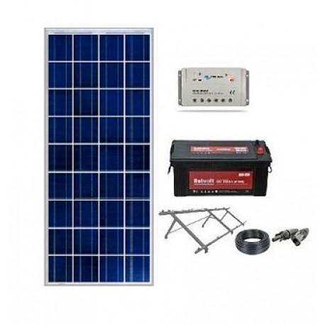 Kit solar 1000wh/día 12v con regulador