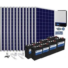 Kit solar 48v 19.800wh/día batería 510ah