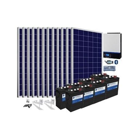 Kit solar 48v 11700/27300w/día batería 12240