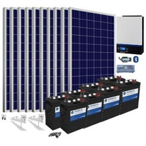 Kit solar 48v 9750/22750w/día batería 12240w