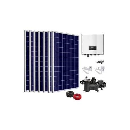 Kit Solar depuradora piscina con bomba 2.0cv
