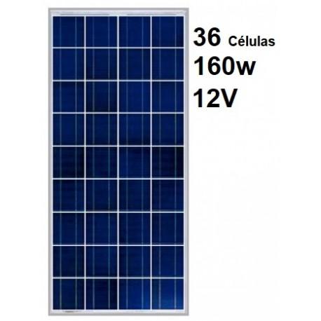 Panel solar 165w 12v policritalino red solar