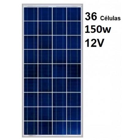 Panel solar 150w 12v policritalino red solar