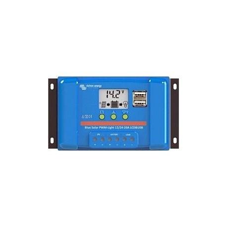 Regulador PWM 30A 12/24V Victron BlueSolar LCD USB
