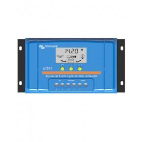 Regulador PWM 10A 48V Victron BlueSolar LCD USB