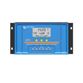 Regulador PWM 30A 48V Victron BlueSolar LCD USB