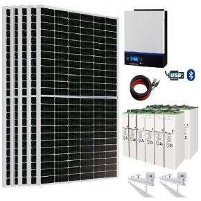 Kit Solar 3000W 24V 11000wh/día Batería 721Ah