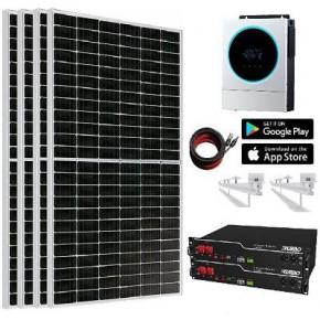 Kit Solar 5.600W 6750whdia Litio 4,8Kw