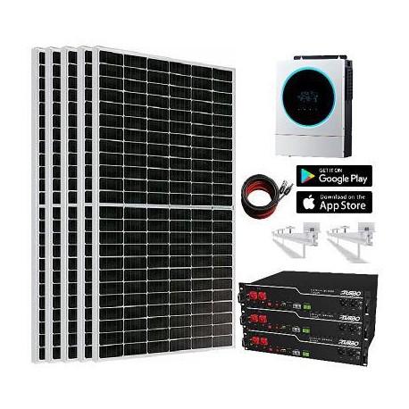 Kit Solar 5 600W 9 000whdía Litio 7 2Kw