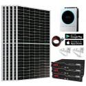 Kit Solar 5.600W 9.000whdía Litio 7,2Kw